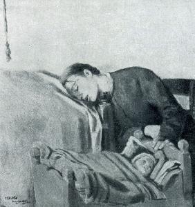 Кристиан Крог. Спящая мать. 1883 г. Осло, Национальная галлерея.