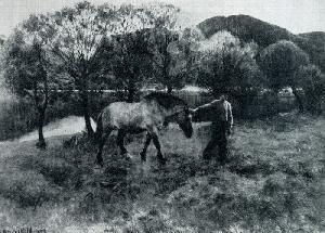 Эрик Вереншелль. Крестьянин, ведущий лошадь. 1894 г. Собрание Станг.