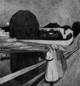Эдвард Мунк. Девочки на мосту. 1899 г. Осло, Национальная, галлерея.