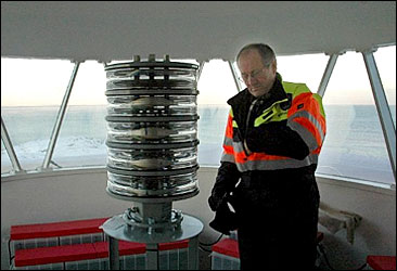 Valter Seipajærvi, the last lighthouse keeper in Norway. Photo: Arne Store, NRK