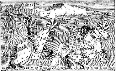 Сигурд I с Балдуином I Иерусалимским по дороге из Иерусалима к реке Иордан