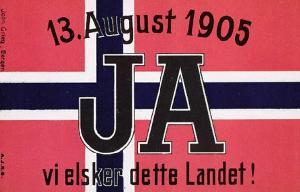 почтовая марка с агитацией за выход из унии со Швецией