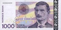 банкнота в 1000 норвежских крон