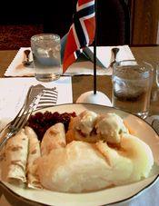 Лютефиск — традиционное норвежское рыбное блюдо