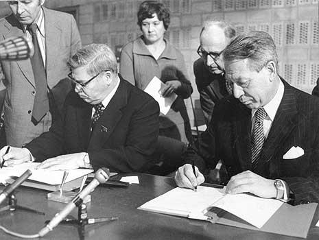 Эвенсен, подписание соглашения