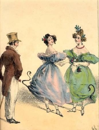 французская каррикатура на Хюльдр (19 век)
