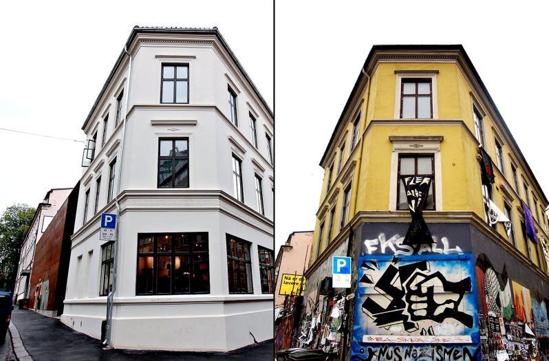 фасад дома Blitz в Осло (Blitz Oslo Norway)